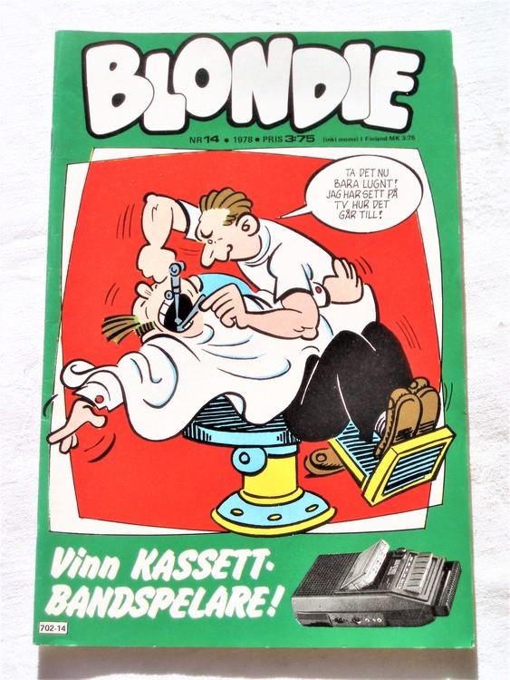 Blondie nr 14 1978 mycket bra skick