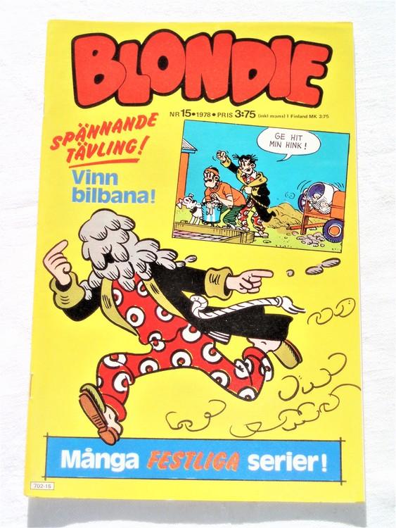 Blondie nr 15 1978 mycket bra skick