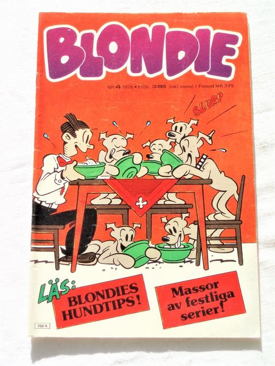 Blondie nr 4 1979 mycket bra skick