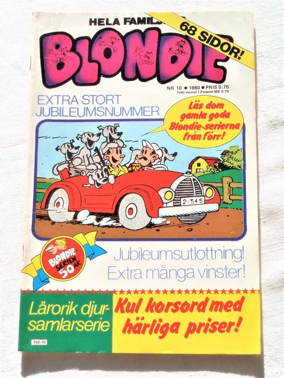 Blondie nr 10 1980 bättre skick