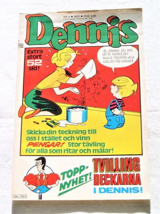 Dennis nr 3 1975 bra skick