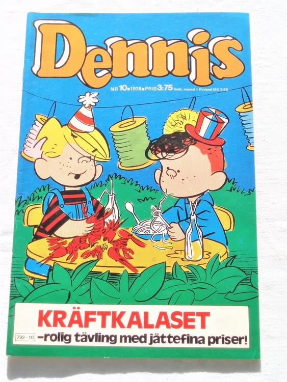 Dennis nr 10 1978 mycket bra skick