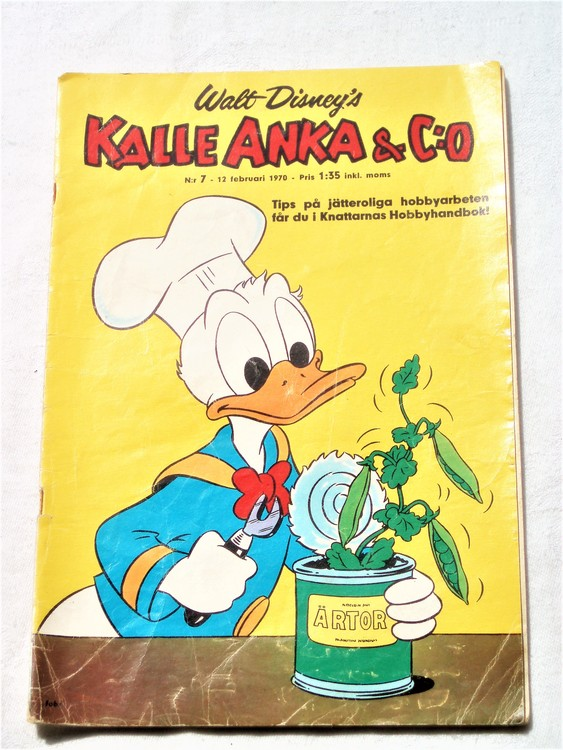 Kalle Anka&Co nr7,1970,normalskick, normalsliten,nött rygg