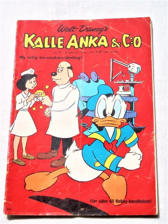 Kalle Anka&Co nr9,1970,normalskick, normalsliten,nött rygg