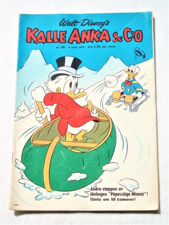 Kalle Anka&Co nr10,1970,normalskick, normalsliten,nött rygg