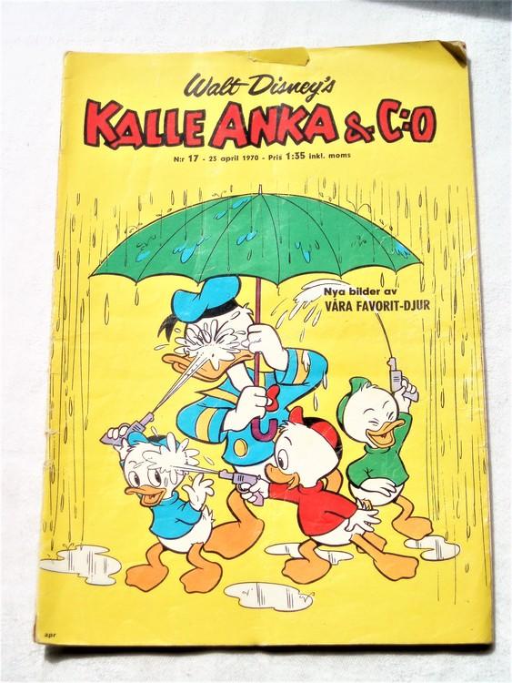 Kalle Anka&Co nr17,1970,normalskick, normalsliten,nött rygg