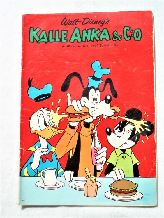 Kalle Anka&Co nr20,1970,normalskick, normalsliten,nött rygg