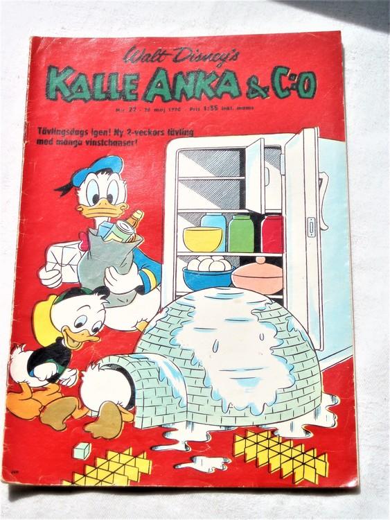 Kalle Anka&Co nr22,1970,normalskick, normalsliten,nött rygg