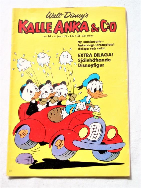Kalle Anka&Co nr24,1970,normalskick, normalsliten,nött rygg