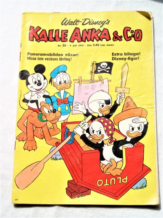 Kalle Anka&Co nr28,1970,normalskick, normalsliten,nött rygg