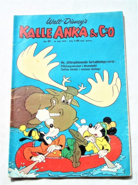 Kalle Anka&Co nr29,1970,normalskick, normalsliten,nött rygg