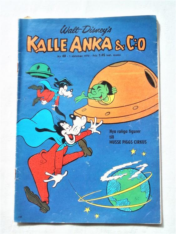 Kalle Anka&Co nr40,1970,normalskick, normalsliten,nött rygg