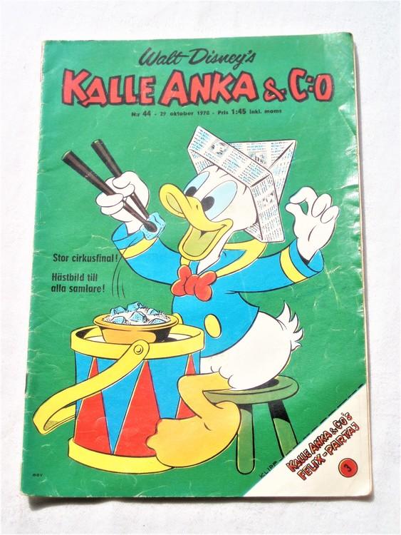 Kalle Anka&Co nr44,1970,normalskick, normalsliten,nött rygg