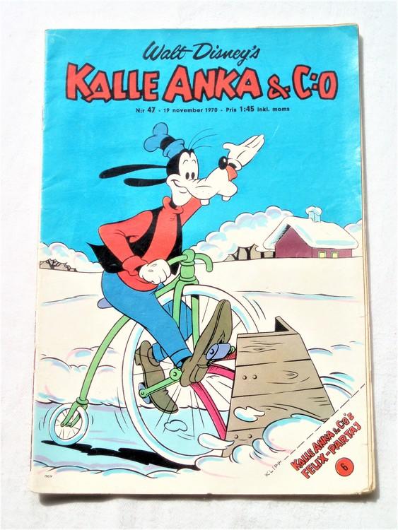 Kalle Anka&Co nr47,1970,normalskick, normalsliten,nött rygg