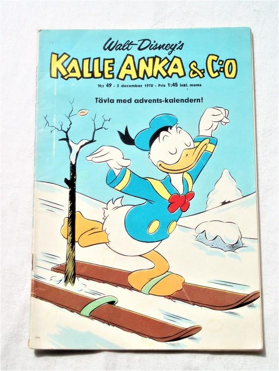 Kalle Anka&Co nr49,1970,normalskick, normalsliten,nött rygg