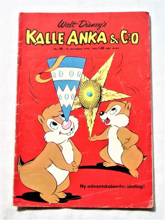 Kalle Anka&Co nr50,1970,normalskick, normalsliten,nött rygg