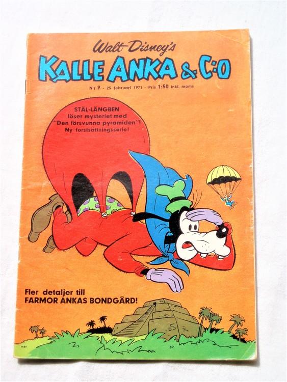 Kalle Anka&Co nr9,1971,normalskick, normalsliten,nött rygg