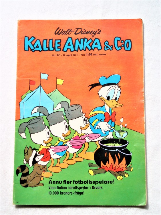 Kalle Anka&Co nr17,1971,normalskick, normalsliten,nött rygg
