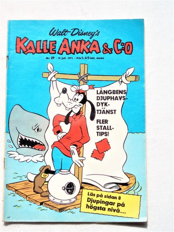 Kalle Anka&Co nr29,1971,normalskick, normalsliten,nött rygg