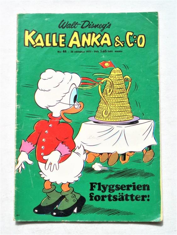 Kalle Anka & Co nr 44 1971 mer slitet än normalt,adressetikett