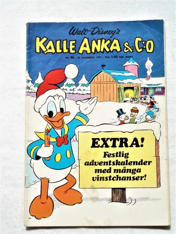 Kalle Anka & Co nr 48 1971 mer slitet än normalt,adressetikett