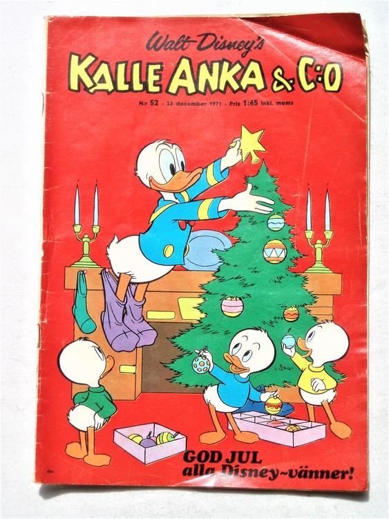 Kalle Anka&Co nr 52 1971 mer slitet än normalt,vikta hörn,