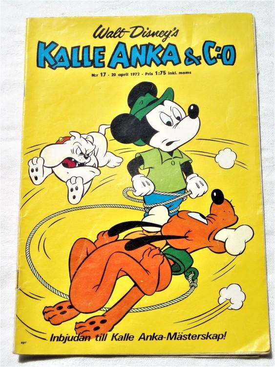 Kalle Anka&Co nr17 1972 bättre skick,adressetikett baksida,rygg lite sliten.