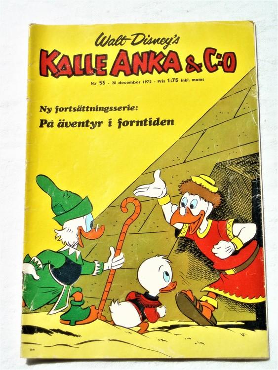 Kalle Anka&Co nr53 1972 bättre skick,adressetikett baksida,rygg lite sliten.