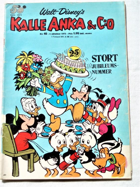 Kalle Anka&Co nr40 1973 bra skick,adressetikett baksida,rygg lite sliten.