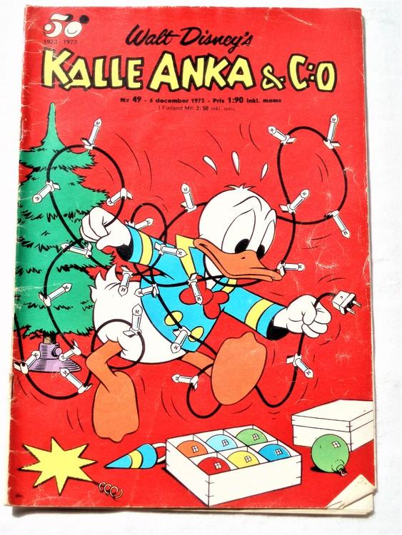 Kalle Anka&Co nr49 1973 bra skick,adressetikett baksida,rygg lite sliten.