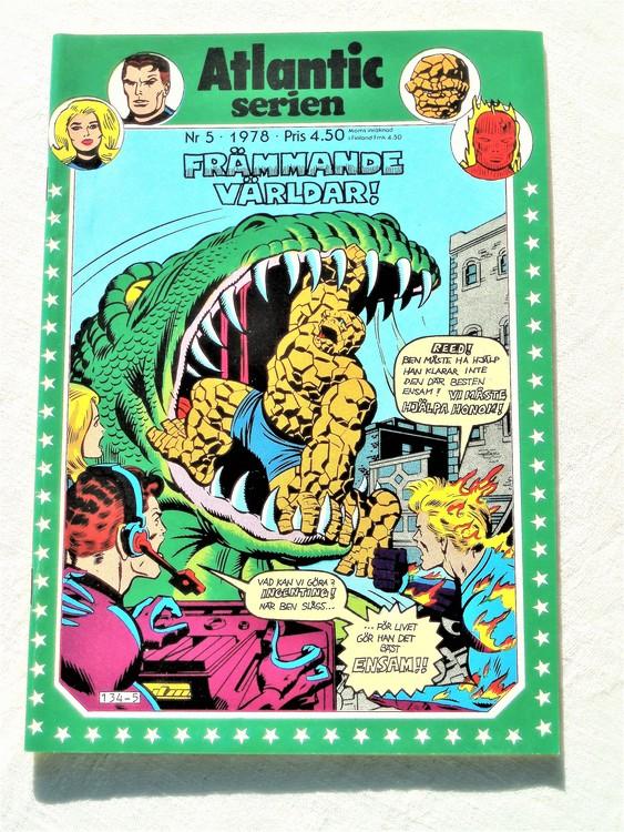 Atlantic serien nr5 1978 NM Near mint,mycket bra skick,ny oläst,mikroskopiska skador