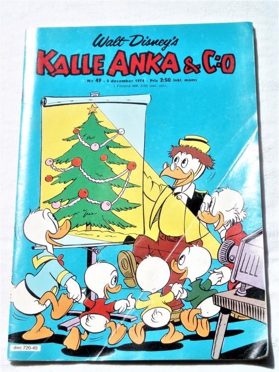 Kalle Anka&Co nr49 1974 bra skick,adressetikett baksida mer sliten än vanligt