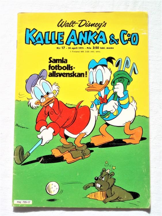 Kalle Anka&Co nr17 1975 mycket bra skick,med små defekter.