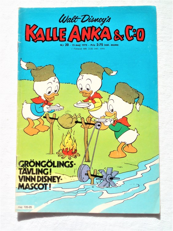 Kalle Anka&Co nr20 1975 mycket bra skick,med små defekter.