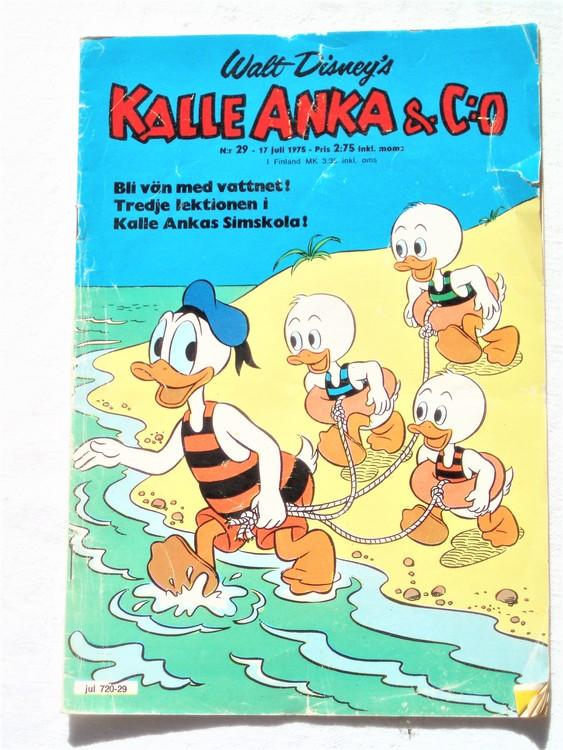 Kalle Anka&Co nr29 1975 mycket bra skick,med små defekter.