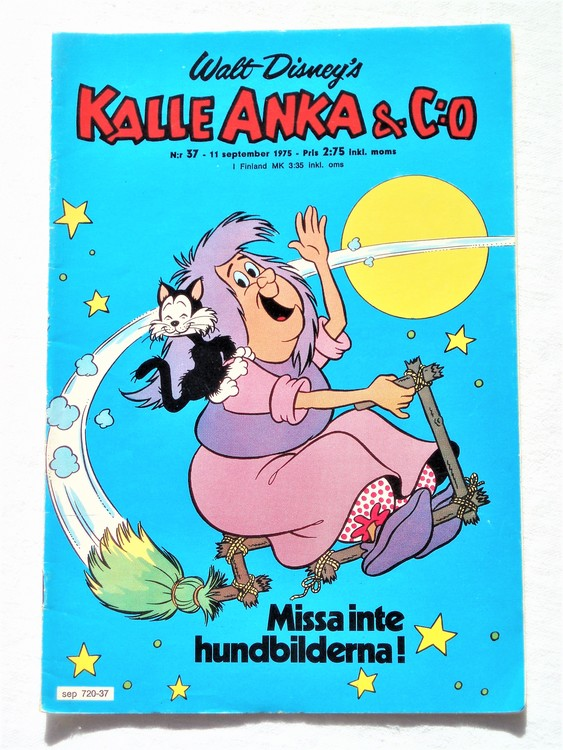 Kalle Anka&Co nr37 1975 mycket bra skick,med små defekter.