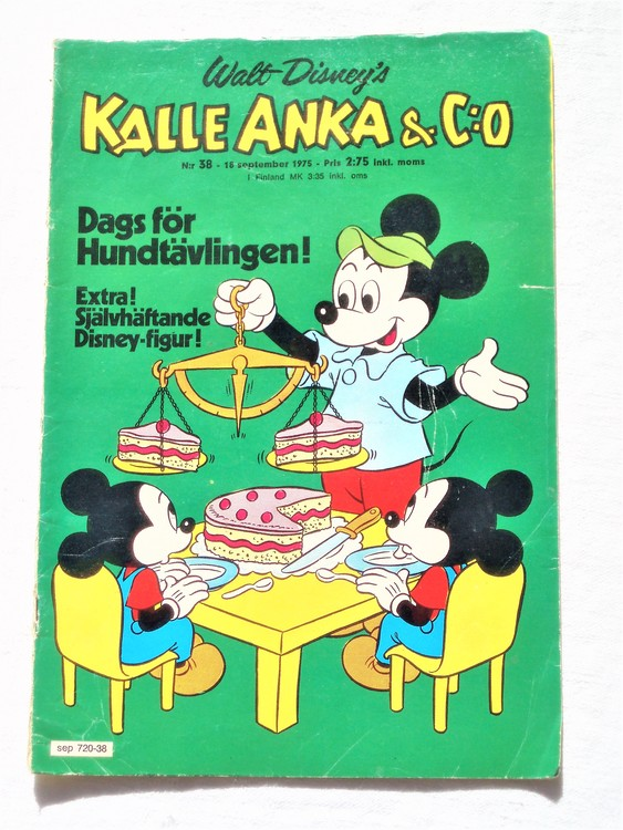 Kalle Anka&Co nr38 1975 mycket bra skick,med små defekter.