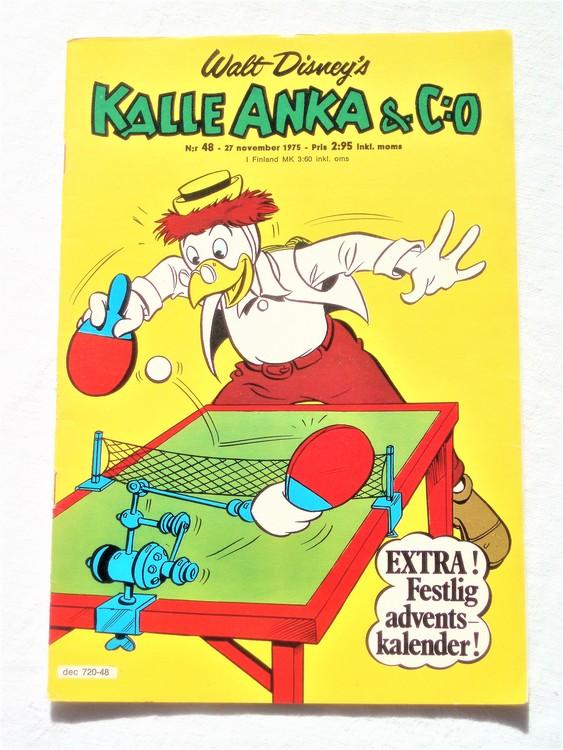 Kalle Anka&Co nr48 1975 mycket bra skick,med små defekter.