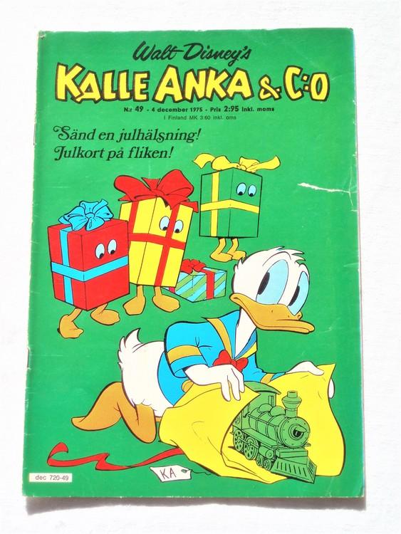 Kalle Anka&Co nr49 1975 mycket bra skick,med små defekter.