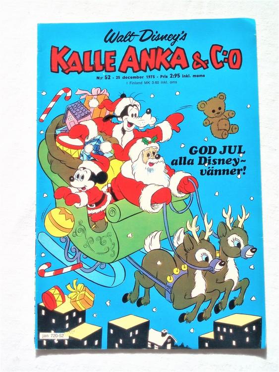 Kalle Anka&Co nr52 1975 mycket bra skick,med små defekter.