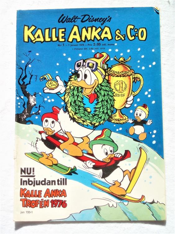 Kalle Anka&Co nr1 1976 mycket bra skick,med små defekter.