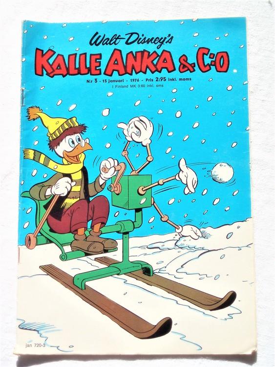 Kalle Anka&Co nr3 1976 mycket bra skick,med små defekter.