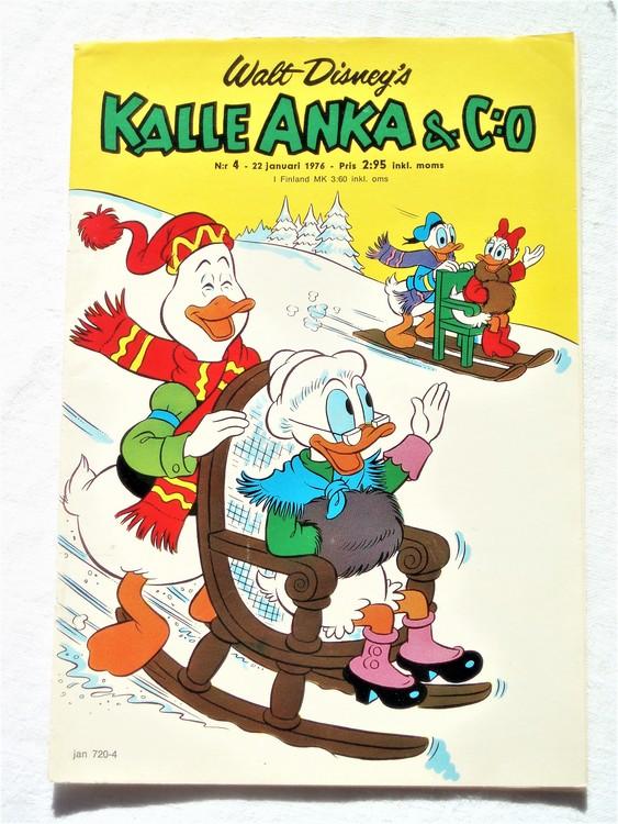 Kalle Anka&Co nr4 1976 mycket bra skick,med små defekter.