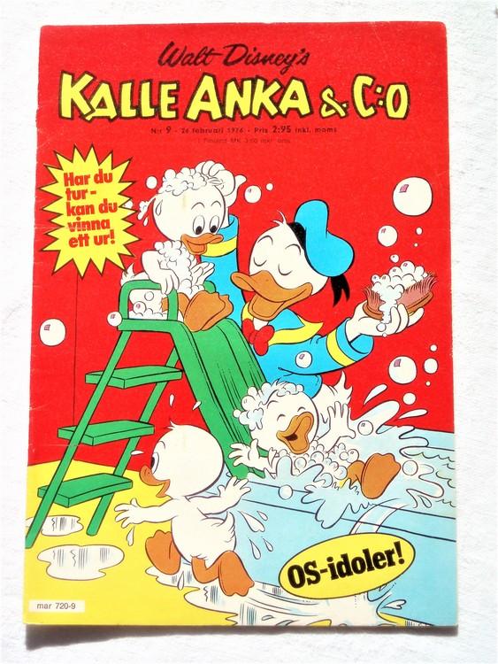 Kalle Anka&Co nr9 1976 mycket bra skick,med små defekter.