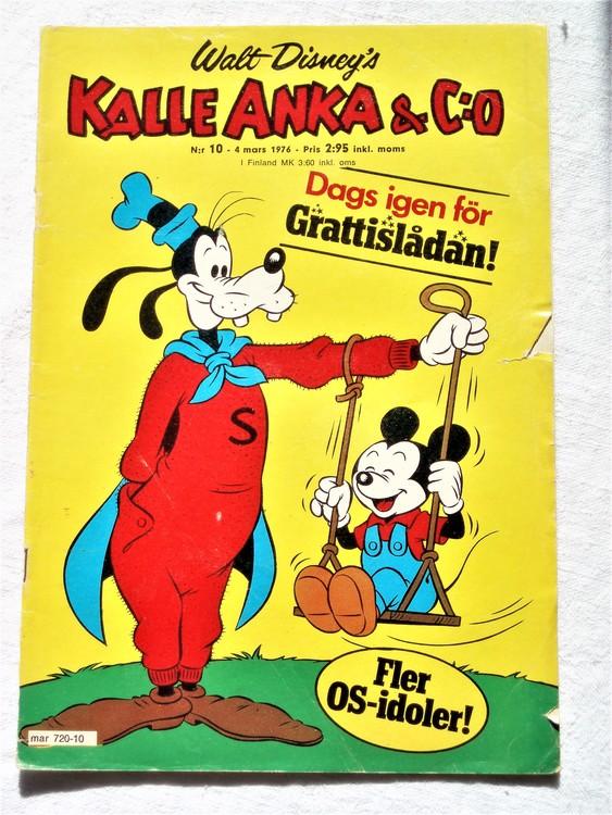 Kalle Anka&Co nr10 1976 mycket bra skick,med små defekter.