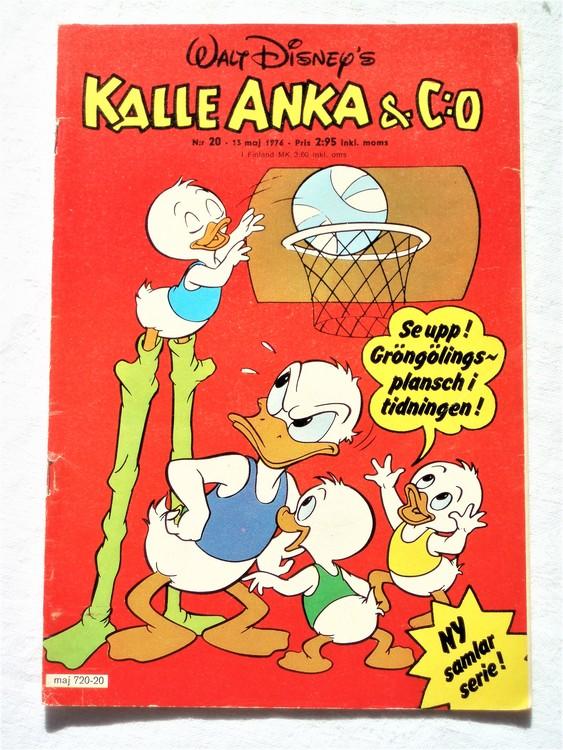 Kalle Anka&Co nr20 1976 mycket bra skick,med små defekter.
