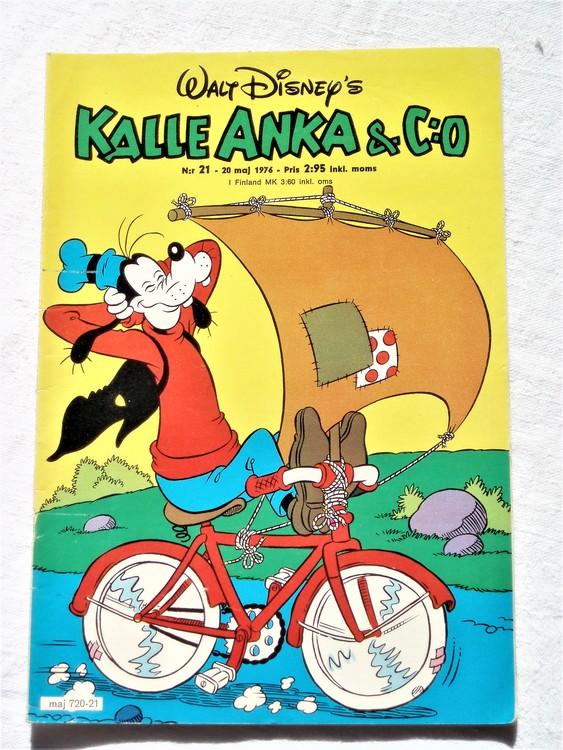 Kalle Anka&Co nr21 1976 mycket bra skick,med små defekter.