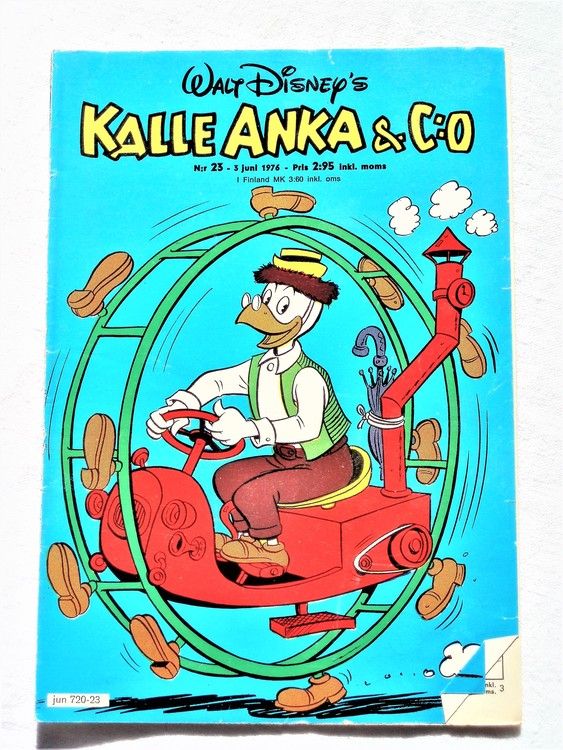Kalle Anka&Co nr23 1976 mycket bra skick,med små defekter.