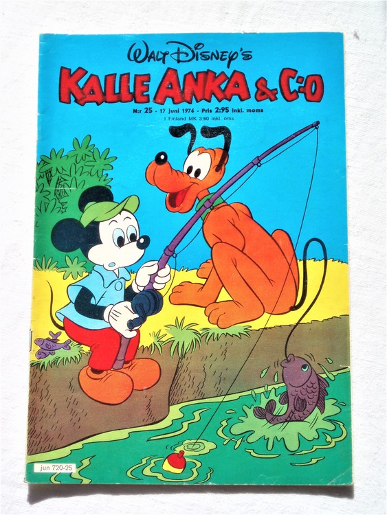 Kalle Anka&Co nr25 1976 mycket bra skick,med små defekter.