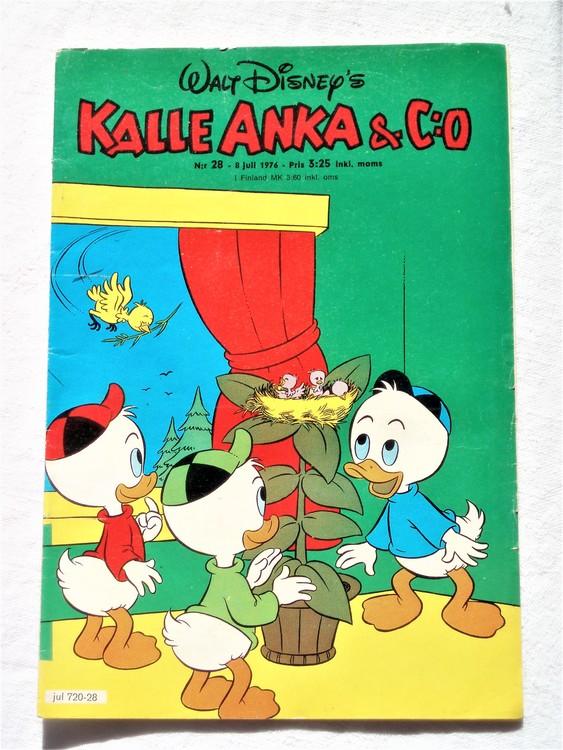 Kalle Anka&Co nr28 1976 mycket bra skick,med små defekter.